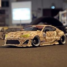 More RocketBunnies today! Check out this GT86 with cameo paint scheme! Build by: Antony Vanderpotte. #gt86 #rocketbunny #frs #toyota #highclassrc #6666customs #trakyoto #japanfinest #rcdrifting #rcdrift #scaleassfuck #rocketbunnyv2frs #rc