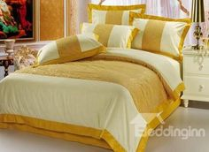 #10973351 Royal Golden Yellow Floral 4 Piece Queen Bedding Set (TO ORDER CLICK BLUE TITLE BELOW) by sensationaltreasures