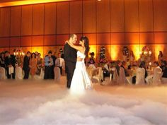 Fog machine at wedding! Was thinking of this! Glad I'm not crazy and it's been done before!