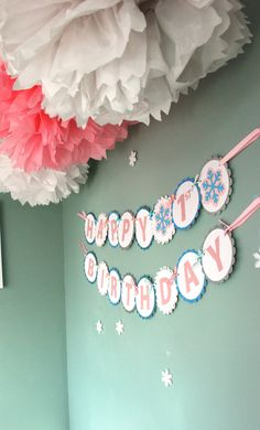 Paper Banner For Birthdays Baby Showers by vanlikethecardesigns, $30.00