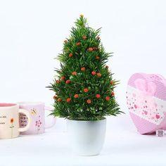 #0045 1pc Merry Christmas Artificial Decorative Green Plants Ball Bonsai