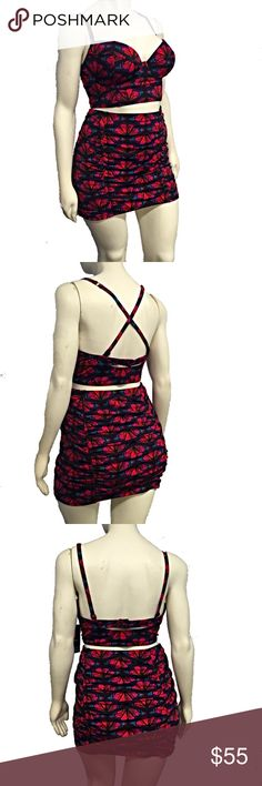Torrid Monarch Butterfly Bikini Turn heads at the pool and beach with this sexy bikini from Torrid! Adorable and chic monarch butterfly pattern. Longline bikini top with adjustable straps that can be worn multiple ways. Adjustable back with hook closure and peekaboo cutout. Lightly padded cups with underwire for support. Skirted high waist bottoms with ruching. Top and bottom are lined with mesh. New with tags, never worn. Comes from a smoke and pet free home. No holes, wear, stains, fading…