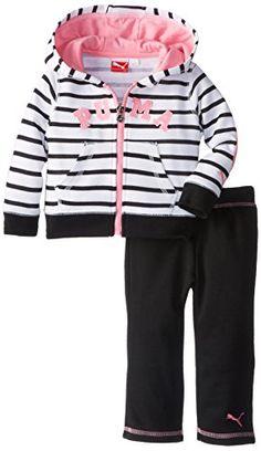 PUMA Baby Girls Infant Striped Hoodie Set - List price: $52.00 Price: $20.26 Saving: $31.74 (61%)