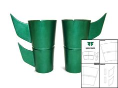 Template for Damian Wayne Robin Gauntlets by TheFoamCave on Etsy