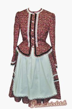 Szatmári viselet Folk Costume, Costumes, Hungarian Embroidery, Folk Music, Traditional, Pattern, How To Wear, Clothes, Beauty