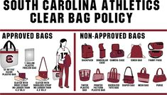 In a move designed to provide a safer environment and more expedited entry for fans, South Carolina Athletics is implementing a clear bag policy for all ticketed athletic events, beginning in 2016-17.
