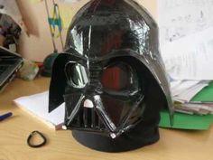 darth vader mask helmet pepakura - YouTube