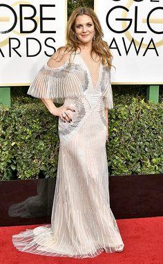 Drew Barrymore: 2017-golden-globes-red-carpet