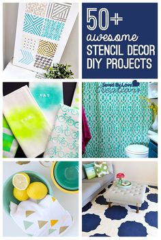 Over 50 Awesome DIY Stencil Decor Projects