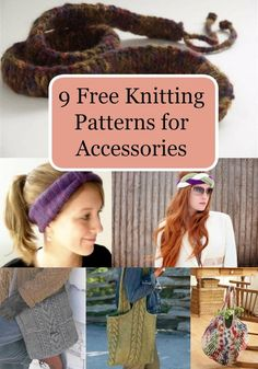 9 Free Knitting Patterns for Accessories
