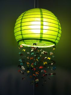 Awesome homemade butterfly lamp
