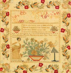 FINE NEEDLEWORK SAMPLER, Ann Amelia Matilda Borden, Pennsylvania<br>dated 1839 | Lot | Sotheby's