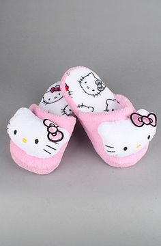 Pink Hello Kitty Super Plush Slipper; I got a pair check off my list!