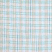Theory Mint Green Plaid Cotton Shirting