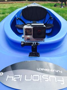 GoPro mounted onto kayak using flat adhesive mount. Can't wait to get it out on the water
