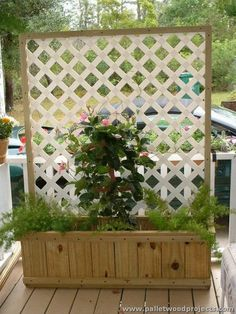 Pallet Planter with Privacy Screen