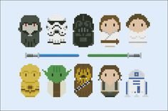 Starwars parody Cross stitch PDF pattern by cloudsfactory on Etsy --> Cross stitch for bead patterns