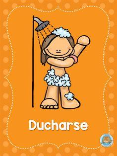 SGBlogosfera. María José Argüeso: RUTINAS DIARIAS Preschool Spanish, Learning Spanish, Preschool Crafts, Spanish Games, Learning Time, Baby Learning, Educational Activities, Activities For Kids, Routine