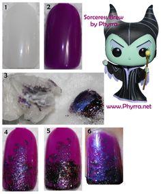 Sorceress Brew Nail Tutorial! http://beautyinfozone.com/nail-art/sorceress-brew-nail-tutorial/