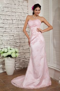 Trumpet/Mermaid Sweetheart Satin Lace Chapel Train Color Wedding Dress