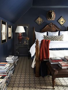 Blue & White - Design - by Amy D. Morris Interiors. could only be done in a room with lots of natural light. Looks so cool!