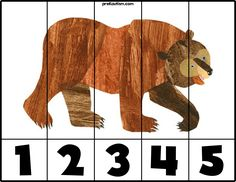 Brown Bear Bear # Puzzle - Activities For Toddlers With Autism Bear Activities Preschool, Bear Theme Preschool, Preschool Colors, Autism Activities, Preschool Lessons, Book Activities, Preschool Activities, Brown Bear Activities, Preschool Classroom