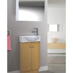 Images On  Overstock Petite Inch Wood White Bathroom Vanity Give your bathroom a quick update with this stylish white vanity With one door one d u