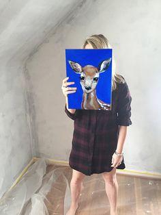 Baby Deer (11 x 14) $60