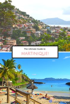Powder soft sand, crystal clear water, houses perched on hills - welcome to #Martinique aka Caribbean PARADISE!