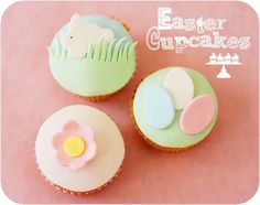 Simple and sweet Easter cupcakes