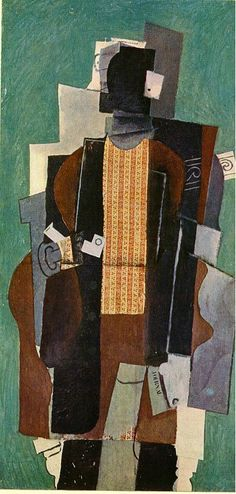 Man with Pipe - Pablo Picasso,1914