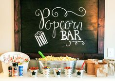 Popcorn Bar with links on where to buy everything.