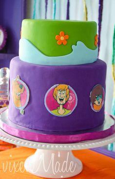 Cake at a Scooby Doo Party #scoobydoo #partycake