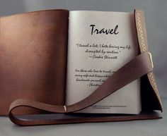 Rustic Leather Travel Journal for the Adventurous Soul by Christine Marie Ford Leather Travel Journal, Travel Journals, Journal Organization, Storage Organization, Paper News, Handmade Journals, Journal Entries, Bookbinding, Handmade Leather