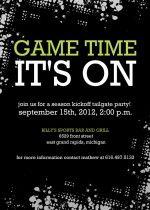 Football Party Invitation Printable Chalkboard Birthday Party