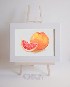 Buy 1 Get 1 free  Grapefruit 5x7  Watercolor by manguloveart, $12.00