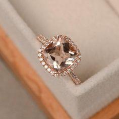 Morganite ring rose gold pink morganite engagement rings