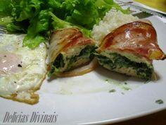 Receita Peitos de frango recheados com espinafres e queijo creme, de Delicias Divinais - Petitchef