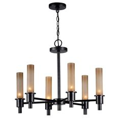 World Imports Dunwoody 6-Light Oil Rubbed Bronze Chandelier-WI687388 - The Home Depot - $85.60 (takes 60W B(?) bulbs)