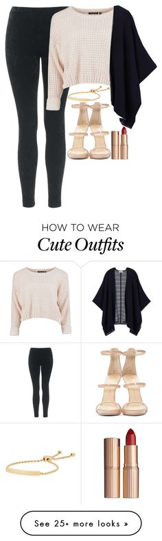 """""""Cute outfit -Ally #38"""" by ally-addie16 on Polyvore featuring Topshop, Tory Burch, Monica Vinader, Giuseppe Zanotti and Charlotte Tilbury"""