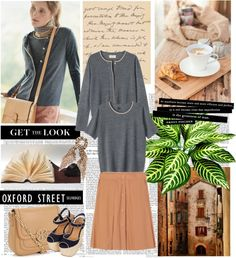 """""""TOAST: TWIN SET AND SKIRT"""" by bodangela ❤ liked on Polyvore"""