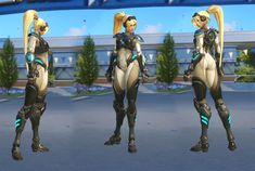 Better late to the party than never. We also contributed to the latest update Blizzard World.  Being able to work on skins based on our most beloved game brands like Starcraft and Warcraft was a blast! These Skins are for the regular lootboxes, not bound to any event. So you can unlock them at any time!   Stephan Viranyi - Character Artist Shana Vandercruysse - Hair  © 2016 Blizzard Entertainment Inc.  Original Base Model by Renaud Galand Rigging by Dylan Jones Concept by David Kang…
