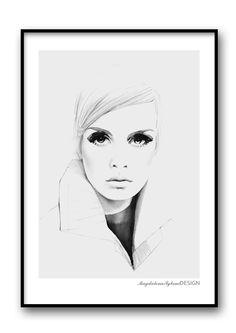 Twiggy grey poster från Magdalena Tyboni Design hos ConfidentLiving.se
