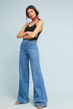 Paige Sutton High-Rise Wide-Leg Jeans
