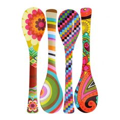 Melamine Salad Servers by French Bull Melamine Salade Server – Patterns – French Bull – Wilson Street The post Melamine Salad Servers by French Bull appeared first on Best Of Daily Sharing. Wooden Spoon Crafts, Wooden Spoons, Wood Crafts, Diy And Crafts, Arts And Crafts, Painted Spoons, Hand Painted, Diy Painting, Painting On Wood
