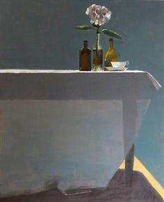 Table and Pink Hydrangea - Susan Ashworth