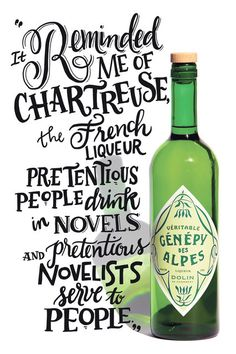 In a new monthly feature, we send a bottle of spirits to a writer who is tasked with getting to the bottom of it. This month, novelist Daniel Handler mixes cocktails with the herbal liqueur Génépy des Alpes. Typography Love, Typography Letters, Graphic Design Typography, Lettering Design, Chalk Lettering, Types Of Lettering, Branding, Typographie Inspiration, Identity