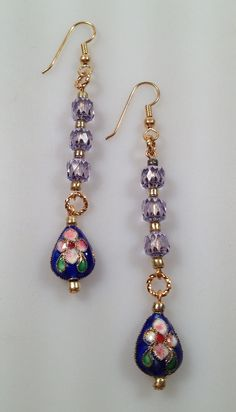 IBA Handcrafted Earrings CLOISONNE Cathedral by thepopularjewelry
