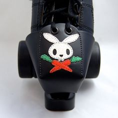 Leather Toe Guards with Pirate Bunny by derbyvixen on Etsy, $55.00