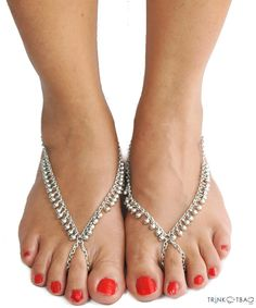 Silver chimes footsie - Anklets by Trinketbag.com Just beautiful!